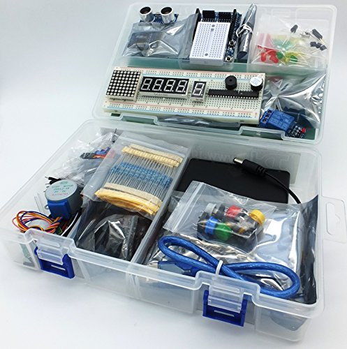 MEGA Starter kit Ultra (100% Arduino IDE compatible) w/ batt holder, WiFi, Bluetooth, Sensors, Modules, Resistor pack and Components