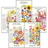"""Botanical Interests """"For The Birds (and Bees and Butterflies)"""" Flower Seed Collection - 5 Large Packets. Attract Birds, Bees,"""