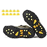 DUASPORTS Ice Snow Traction Cleats Grips Crampons Creepers with 10 Free Studs