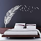 Magic Candle Creative Feather Wall Sticker Bedroom Home Decal Mural Art Decor Waterproof PVC Wallpaper TV Sofa Setting Wall Decal
