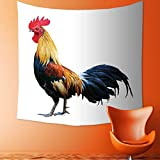 AmaPark Custom Tapestry Wall Tapestry Wall Hanging Tapestries Thai red rooster on white background of Tapestry Wall Blanket Wall Decor Wall Art Home Decor 82.7 x L59.1 inches
