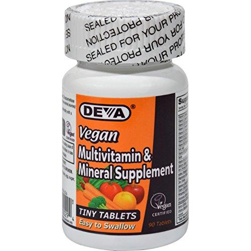 Deva Vegan Multivitamin and Mineral Supplement - 90 Tiny Tab
