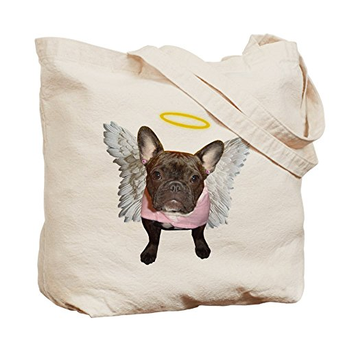 CafePress Tote Natural Bag Canvas Bag Shopping Cloth Angel Frenchie 6x6zqpf