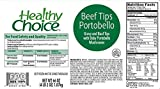 Healthy Choice Beef Sirloin Tips with Portobello Mushrooms, 66 oz. (Pack of 4)