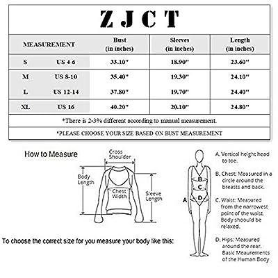 ZJCT Women's Open Cold Shoulder Stretch Long Sleeve Tee Shirt Casual Blouse Tops