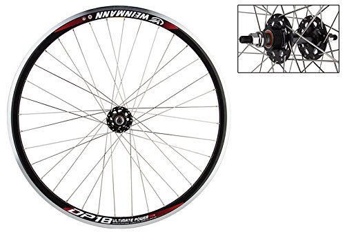 Wheel Master Weinmann DP18 Rear Wheel - 700c, 36H, Fixie/FW, Black MSW by WheelMaster