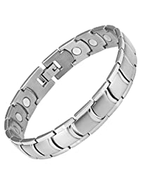 Willis Judd New Mens Titanium Magnetic Therapy Bracelet in Black Velvet Box with Free Link Removal Tool