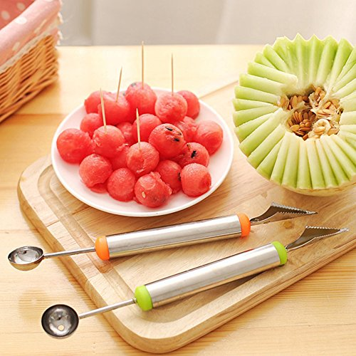 heaven2017 Fruit Melon Carving Spoon Stainless Steel Baller Digging Tools (Random Color) by heaven2017 (Image #1)