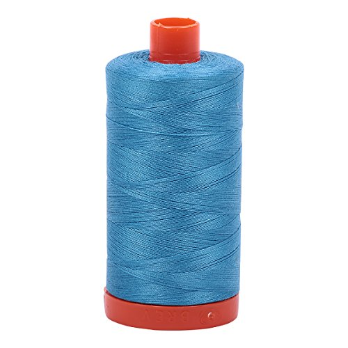 (Aurifil Mako Cotton Thread Solid 50wt 1422yds Bright Teal)
