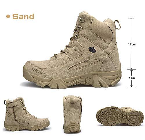 AONEGOLD Hommes Bottes de Randonnée Tactiques Militaires de Combat Bottes Chaussures de Trekking extérieures Respirantes… 2