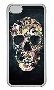 Personalized Custom Skull Colorful for iPhone 5C PC Transparent Case
