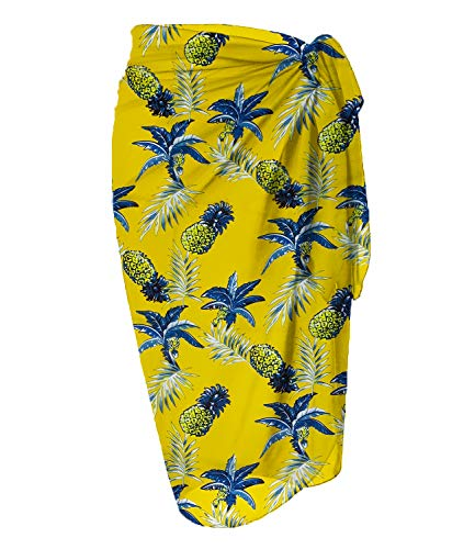 LIENRIDY Women's Beach Wrap Sarong Cover Up Chiffon Swimsuit Wrap Skirts 107-10-XL-2XL