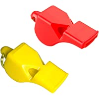StonKraft Cox 50 Sports and Training Pea-Less Whistles-Used by Professionals (Assorted Colour) (Pack of 2)