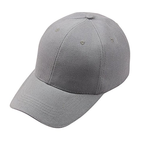 LEXUPA Women Baseball Cap Snapback Hat Hip-Hop Adjustable GY(One Size,Gray)