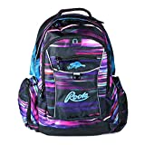 Roots 73 - Durable 17.3-inch Laptop and Tablet Backpack with Zippered Cable Pockets (Neon Stripes)