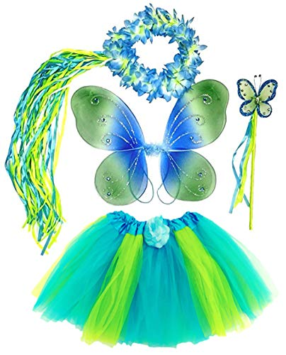 Enchantly Girls Blue and Green 4 Piece