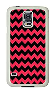 Samsung S5 Case,VUTTOO Samsung S5 Cover With Photo: Zig Zag Chevron For Samsung Galaxy S5 / Galaxy SV / Galaxy S V - PC White Hard Case