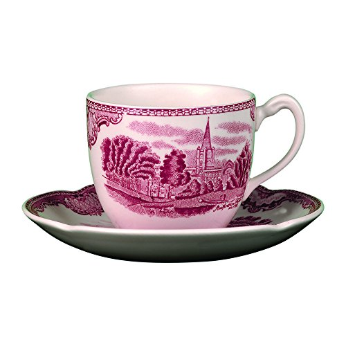 Brothers Johnson Castle - Johnson Brothers Old Britain Castles Pink Dinnerware Teacups