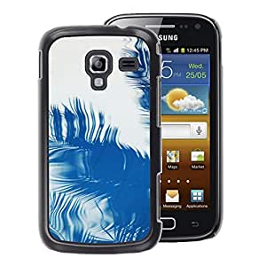 A-type Arte & diseño plástico duro Fundas Cover Cubre Hard Case Cover para Samsung Galaxy Ace 2 (Palm Reflection Tropical Summer Blue)