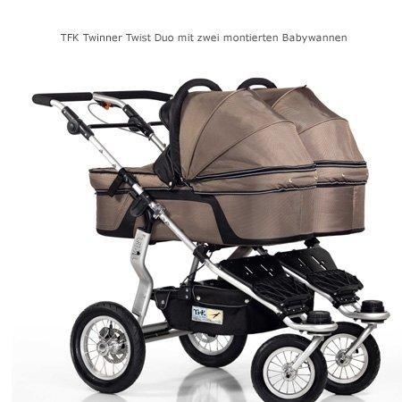 TFK Twinner Twist - Carrito de bebé doble convertible con adaptador, color marrón: Amazon.es: Bebé