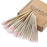 Creazy 12PCS Make Up Foundation Eyebrow Eyeliner Blush Cosmetic Concealer Brushes (Rose Gold)