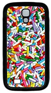 Samsung Galaxy S4 I9500 Case and Cover Cake Sprinkles TPU Silicone Rubber Case Cover for Samsung Galaxy S4 I9500 Black