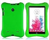 lg 3 tablet cases - Bolete LG G Pad 7.0 EVA Case – Ultra Light Weight Shock Proof Convertible Kids Friendly for LG G Pad V410 (LTE) / V400 / VK410 / UK410 (G Pad F7.0) 7-Inch Android Tablet(Green)