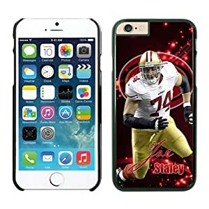 San Francisco 49ers Joe Staley Case Cover For Apple Iphone 6 Plus 5.5 Inch NFL Cases Black NIC13807