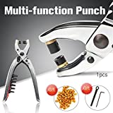1Pcs Multi-Function Punch Hole Punches Leather Hole Pliers Rivets Eyelet Metal Retainer Punching Machine Eyelets Grommets Tool