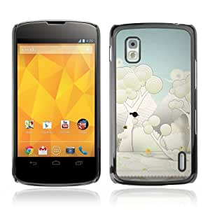 YOYOSHOP [Cute Forrest Illustration] LG Google Nexus 4 Case