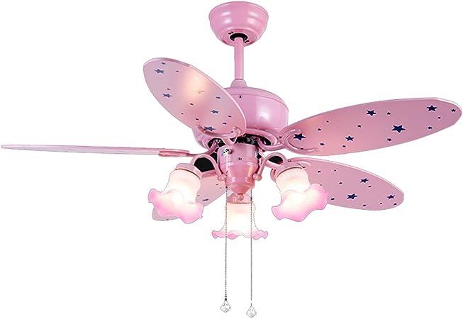 Ventilador de techo Luz Habitación De Niña Luz Sala Jardín De Infantes con Luz A+ (Color : Pink, Size : 43 * 107cm): Amazon.es: Hogar