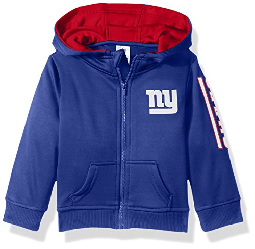 NFL New York Children Boys Full Zip Hoodie, 4T, Giants