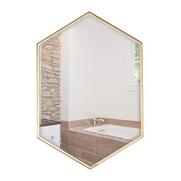 Bopi Miroir Salle De Bain Miroir De Salle De Bain Mural Hexagonal