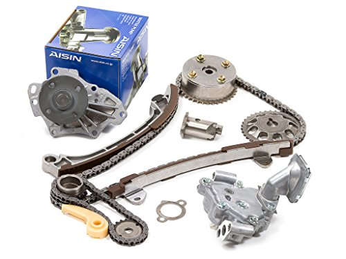 Evergreen TK2040WOPA Toyota Scion 1AZFE 2AZFE Timing Chain Kit w/ Oil Pump AISIN Water Pump (with VVTi Gear)