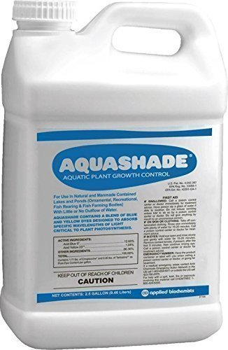 Aquashade 2.5 Gallon 390725A Applied Biochemist Lake Dye by Aquashade 2.5 Gallon