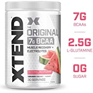 XTEND Original BCAA Powder Watermelon Explosion   Sugar Free Post Workout Muscle Recovery Drink with Amino Acids   7g BCAAs for Men & Women  30 Servings