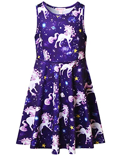 Unicorn Dresses for Girls 7-16 Birthday Party Gift Clothes -