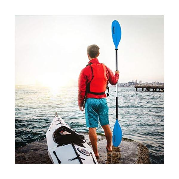 511BjpdZ68L OVERMONT Paddel Aluminium Doppelpaddel Paddel mit Verstellbaren Paddel-Blätter für Kanusport Kajakfahren Kanadier Boot…