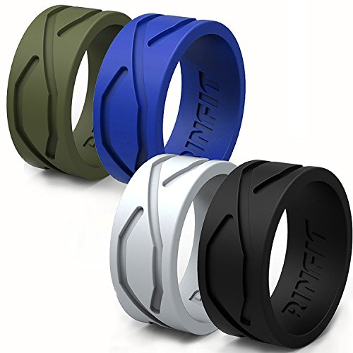 Silicone Wedding Ring Band Men