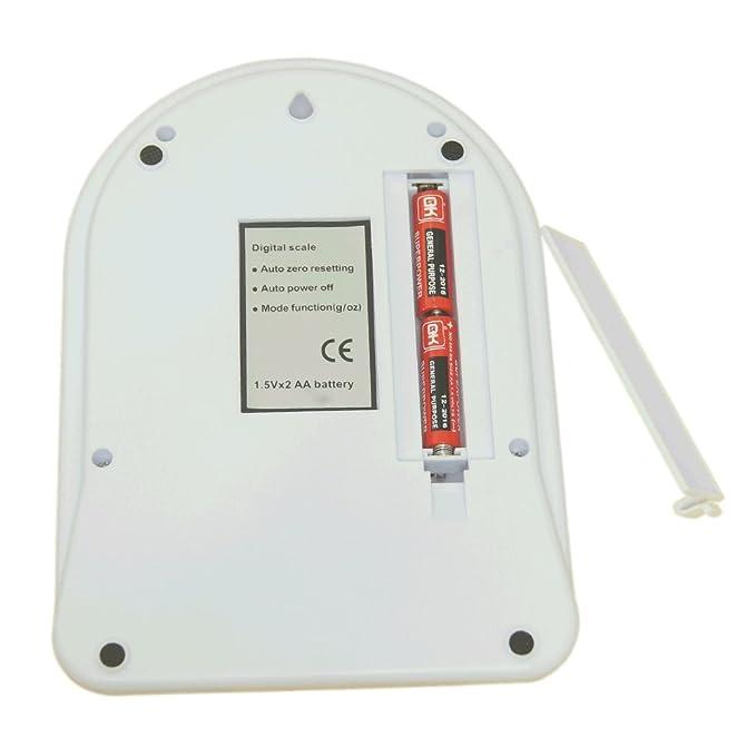 BASCULA DE COCINA DIGITAL 5KG - 500g. BALANZA PROFESIONAL - PANTALLA LCD - PRECISIÓN AL GRAMO . FUNCION DE TARA / TARE DESCUENTA EL PESO DEL PLATO O ...