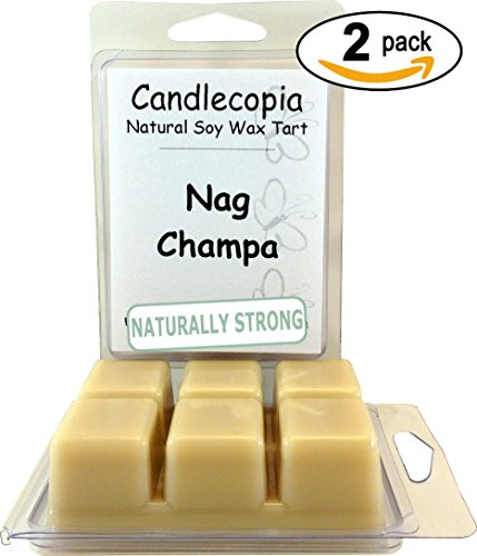 Candlecopia Nag Champa Strongly Scented Sustainable Vegan Natural Soy Wax Melts, 12 Soy Wax Cubes, 6.4 Ounces in 2 x (Soy Wax Melts)