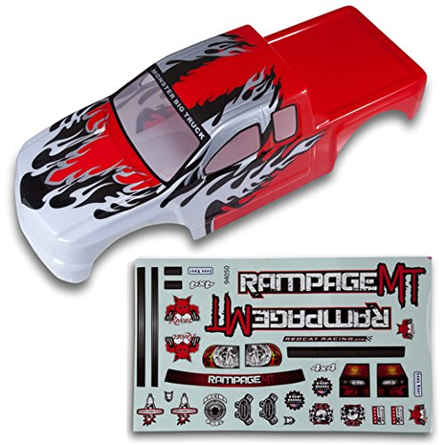Redcat Racing Truck Body (1/5 Scale), Red and White