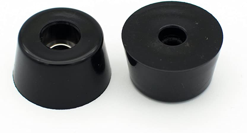 "Screws /& Metal Washer Built-In 9//16/"" H Lot of 8 Rubber Bumper Feet 1/"" Dia"
