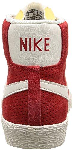 Nike Wmns Blazer Mid Suede Vintage - Zapatillas de baloncesto para mujer UNIVERSITY RED/SL-GM LGHT BRWN