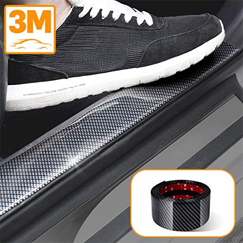 Universal Door Guard Bumper,Rear Bumper Guard Rubber Rear Guard Bumper Protector, Front Rear Door Entry Sill Guard Scuff Plate Protectors Most Cars 100% Waterproof (11/4 Inch Width x 246/25Feet Length