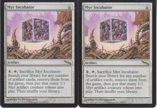 Myr Incubator Magic Rare 2 Card Lot Mirrodin
