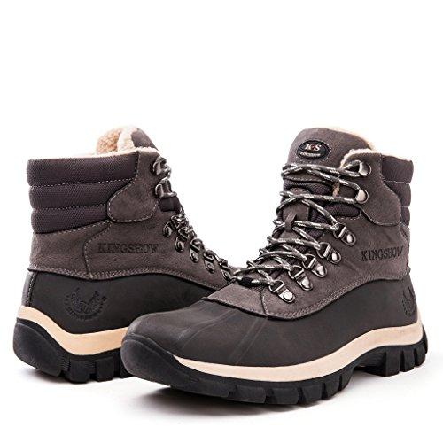 Kingshow Men's 1705 Snow Boots (10.5 M US Men's, grey)