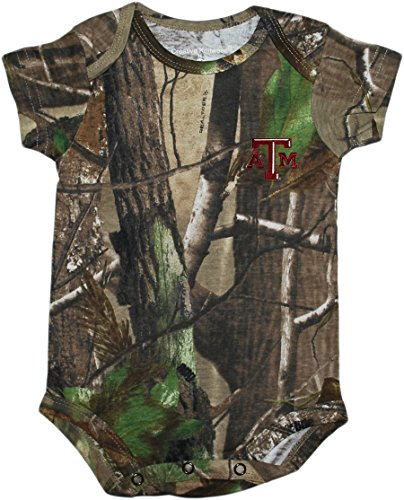 - Creative Knitwear Texas A&M University Aggies Realtree Camo Baby Bodysuit 0-3 Months