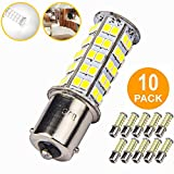 10 Pcs Extremely Super Bright 1156 1141 1003 BA15S 68-SMD LED Replacement Light
