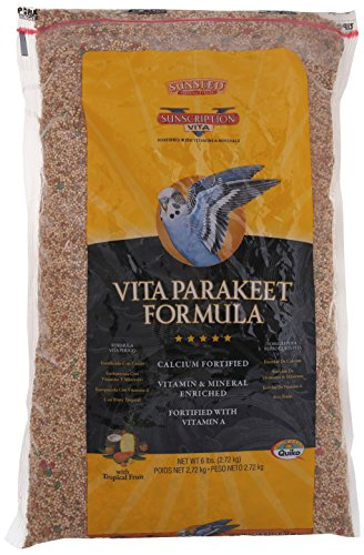 Sun Seed Company BSS33006 6-Case Vita Mix Daily Diets for Parakeet, 6-Pound
